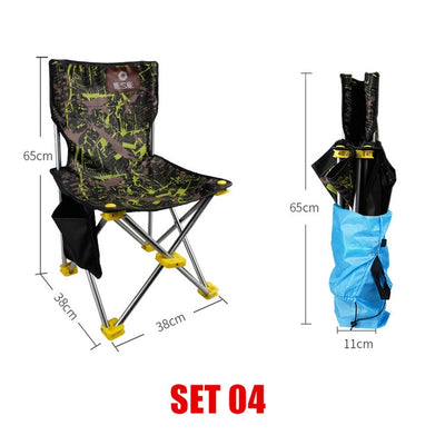Portable Travel Ultralight Folding Chair Superhard High Load Outdoor Camping Chair - Affordable Travelgear