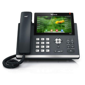 Yealink T48S IP Phone, 16 Lines. 7-Inch Color Touch Screen Display. USB 2.0, Dual-Port Gigabit Ethernet, 802.3af PoE, Power Adapter Not Included (SIP-T48S).