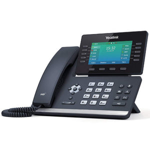 Yealink T54W IP Phone, 16 VoIP Accounts. 4.3-Inch Color Display. USB 2.0, 802.11ac Wi-Fi, Dual-Port Gigabit Ethernet, 802.3af PoE, Power Adapter Not...