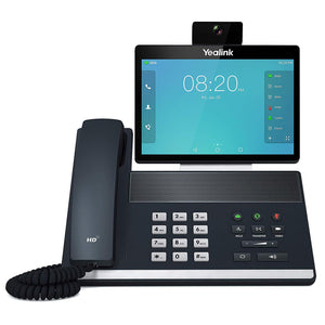 Yealink VP59 Smart Video IP Phone, 16 VoIP Accounts. 8-Inch Adjustable Color Touch Screen. Dual USB 2.0, 802.11ac Wi-Fi, Dual-Port Gigabit Ethernet, 802.3af PoE, Power Adapter Not Included (SIP-VP59)