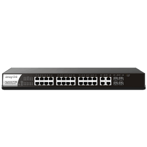 VigorSwitch P1280 28-Port Web Smart Gigabit PoE+ Switch