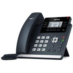 Yealink SIP-T42S IP Phone, 12 Lines. 2.7-Inch Graphical Display. Dual-Port Gigabit Ethernet, 802.3af PoE