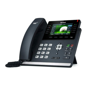 Yealink SIP-T46S IP Phone, 16 Lines. 4.3-Inch Color Display. Dual-Port Gigabit Ethernet, 802.3af PoE