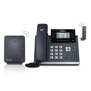Yealink W41P DECT Desk IP Phone and BaseStation. 2.7-Inch Graphical LCD. Dual-port 10/100 Ethernet, 802.3af PoE, Power Adapter Included