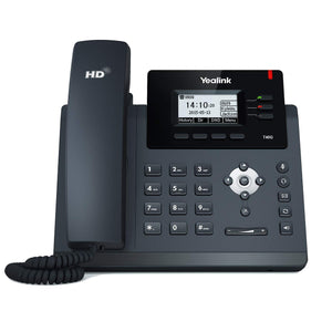Yealink T40G IP Phone, 3 Lines. 2.3-Inch Graphical LCD. Dual-Port Gigabit Ethernet, 802.3af PoE, Power Adapter Not Included (SIP-T40G)