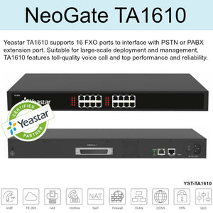 Yeastar TA1610 Supports 16 Fxo Ports