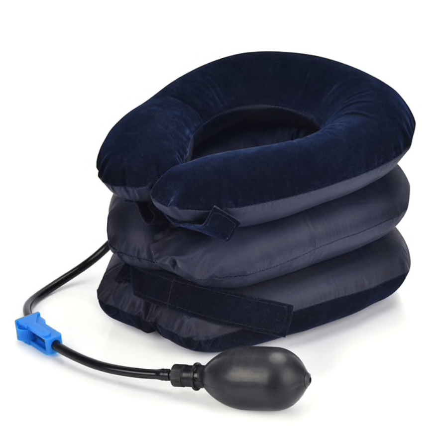 3-Layered Inflatable Cervical Traction Pillow