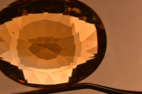 Inclusion in Citrine - Color Zoning