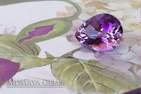 pear cut amethyst 5.35 ct