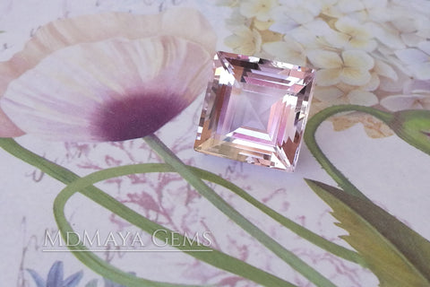 Rose de France Amethyst Square Cut 16.19 ct