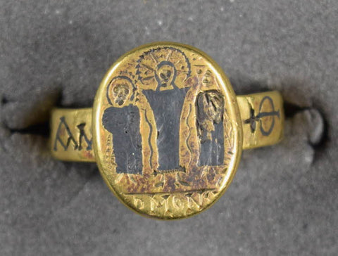 Gold ring, early Byzantine period, 6th-7th c.