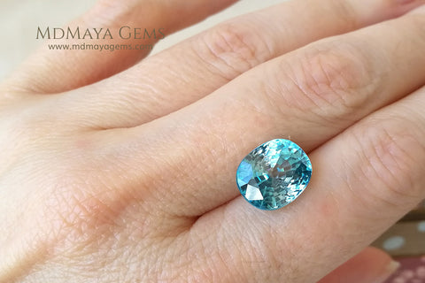 Blue Zircon 9.50 ct