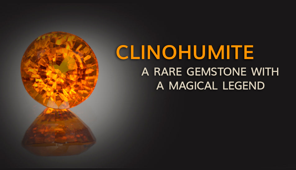Clinohumite rare gemstone