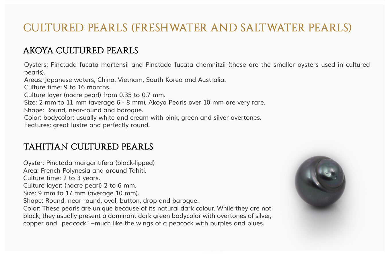 Akoya and Tahitian Pearls