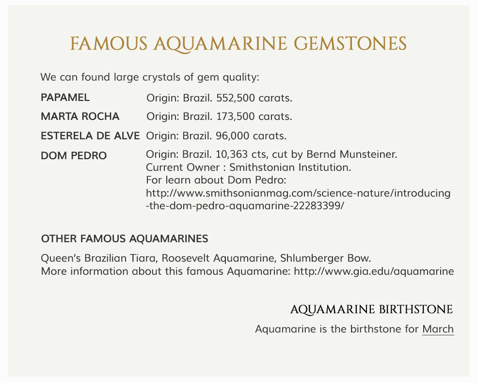 Famous Aquamarine Gemstones