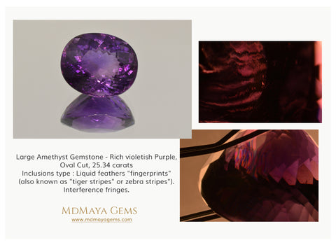 Inclusions in Amethyst Gemstone