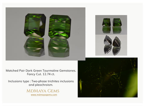 Inclusions in Green Tourmaline