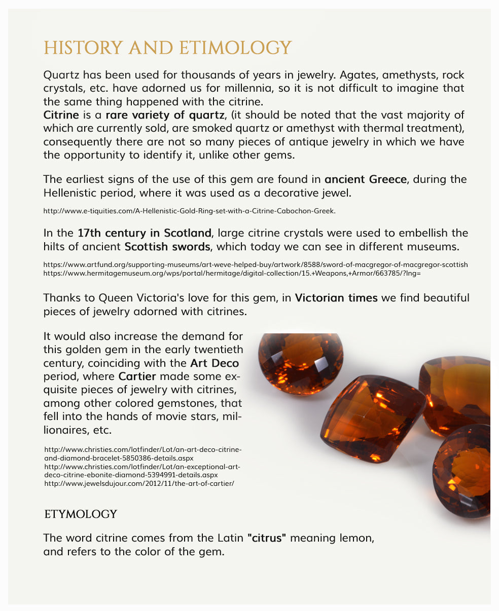 History and Etymology of Citrine