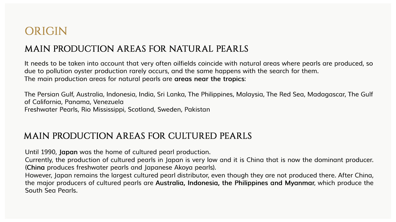 main production areas of natural pearls