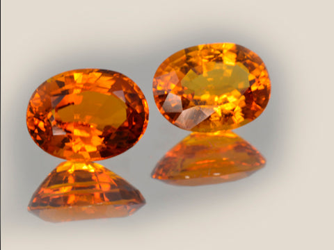 pair clinohumite rare gemstone