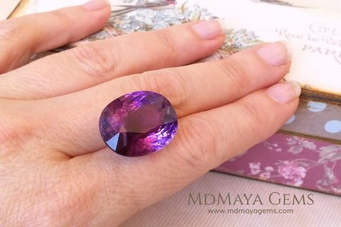 Amethyst oval cut 25.34 ct