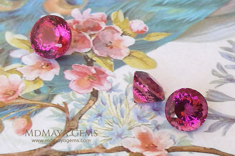 Set of Rubellite Tourmalines
