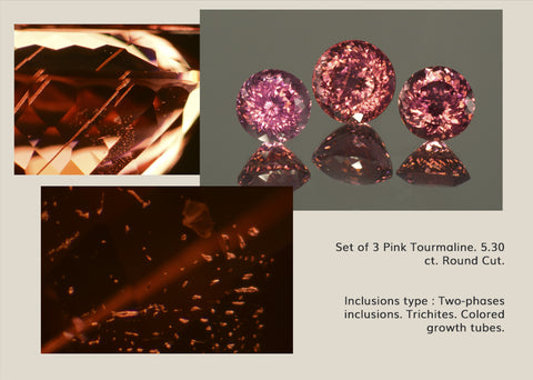 Inclusions in Pink Tourmaline