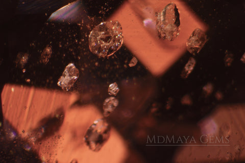 Solid Inclusions In Violetish Purple Gemstone of 2.31 ct.