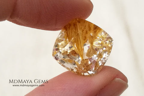 Rare white topaz with amazing inclusions