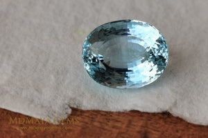 Fine Blue Aquamarine. Oval cut. 5.87 ct.