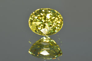 Crown Yellow Mali Garnet Oval Cut 1'38 ct