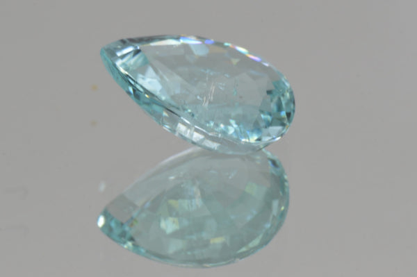 Crown Greenish Blue Paraiba from Mozambique Pear Cut 3 69 ct