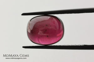 Perfect Natural Purple Red Rhodolite 7.30 ct, Cabochon Oval Cut. This amazing natural and untreated gemstone has a perfect cut and shape for any kind of jewelry. Don't miss it!