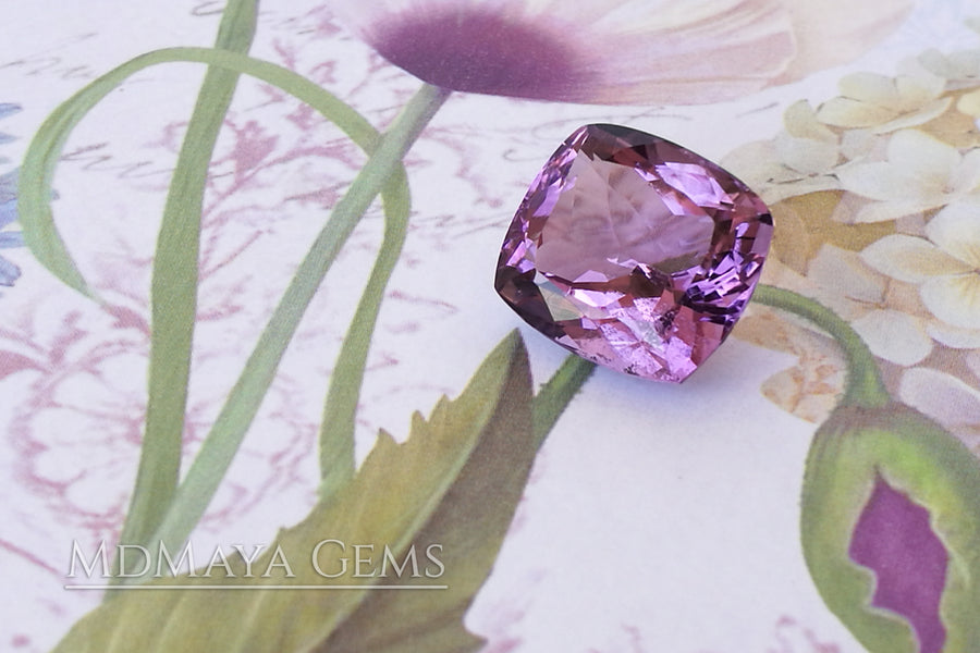 Cushion cut Purple Amethyst 10.40 ct