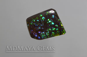 Stained Glass Ammolite Gemstone 22.80 carat from Canada