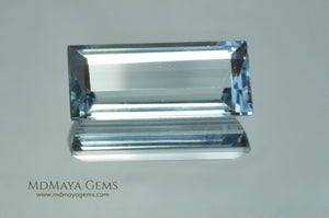 Light Blue Aquamarine Baguette cut 4.64 ct