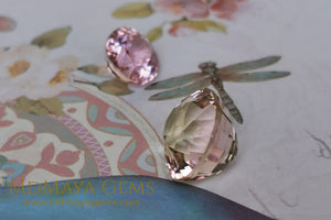 Lovely pink tourmaline 3.89 ct and peach tourmaline 10.15 ct