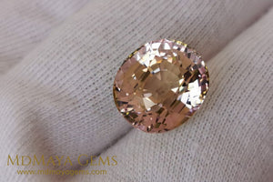 Large peach and pink tourmaline 10 15 ct