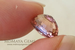 Natural Bi Color African Tourmaline Oval Cut 2.82 ct