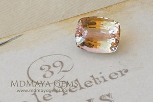 Bi Color Tourmaline from Mozambique with Golden tones and soft Pink touches