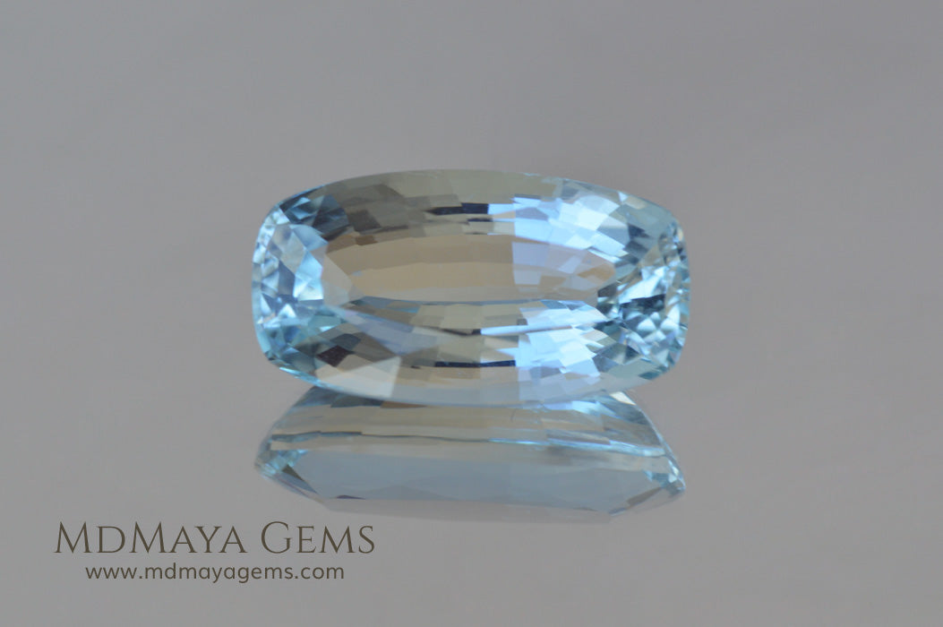Greenish Blue Aquamarine Cushion cut 2.03 ct