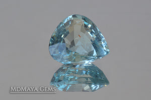 Attractive greenish Blue Aquamarine. Pear cut. 3.51 ct