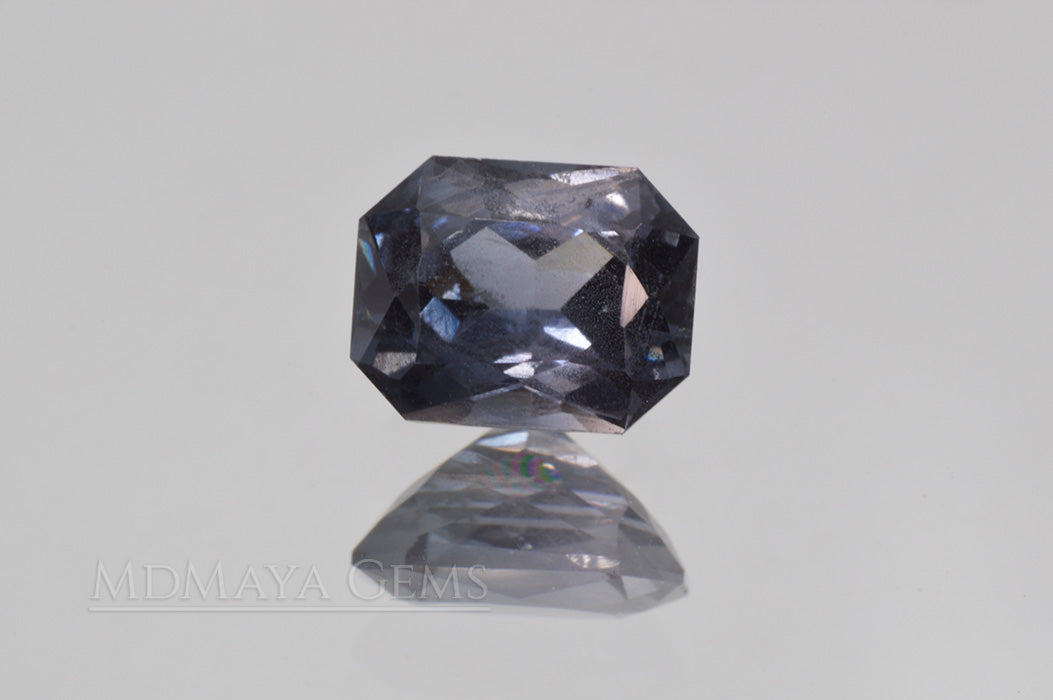 Pretty Bluish Gray Spinel Unheated, Octagon Cut, 1.78 ct. Perfect for Engagement Ring