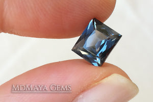 Affordable Blue Grey Spinel Gemstone Rectangle Cut 1.95 ct.