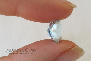 Greenish Blue Aquamarine Oval cut 2.98 ct