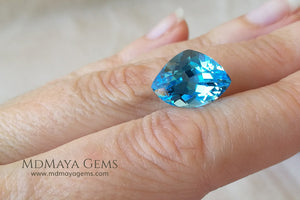 Magnificent Blue Topaz Stone Fancy Cut 7.87 ct