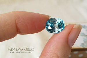 Natural Cambodian Blue Zircon Oval Cut 9.50 ct
