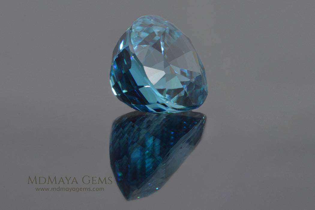 Natural Cambodian Blue Zircon Gemstone Pear Cut 5.65 ct