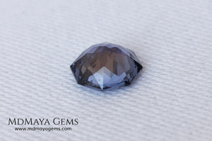 Pretty bluish violet spinel 1.45 ct, octagon cut. This small spinel has a bit of a window, but thanks to its cut it has a good reflection of light on its facets, making it not boring at all. A small natural beauty and without any treatment within reach of all pockets. It will look spectacular once mounted on a ring.