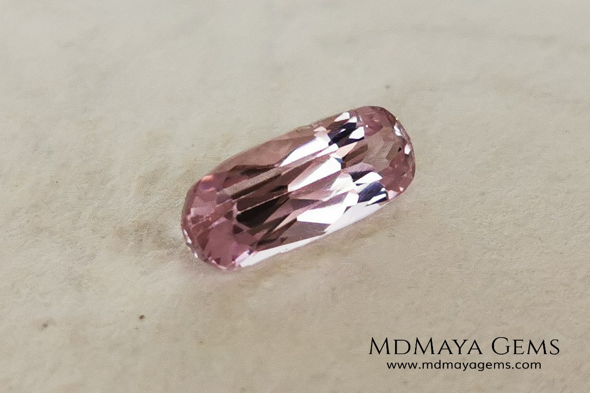 Amazing very bright pink Kunzite 4.69 ct. with an elongated cushion cut